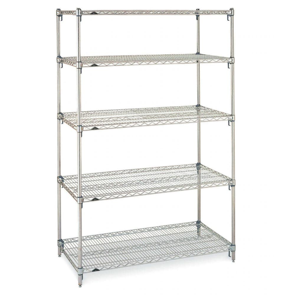 "Metro 5A577C Super Erecta® Chrome Wire Shelf Kit - 72""W x 24""D x 74""H"