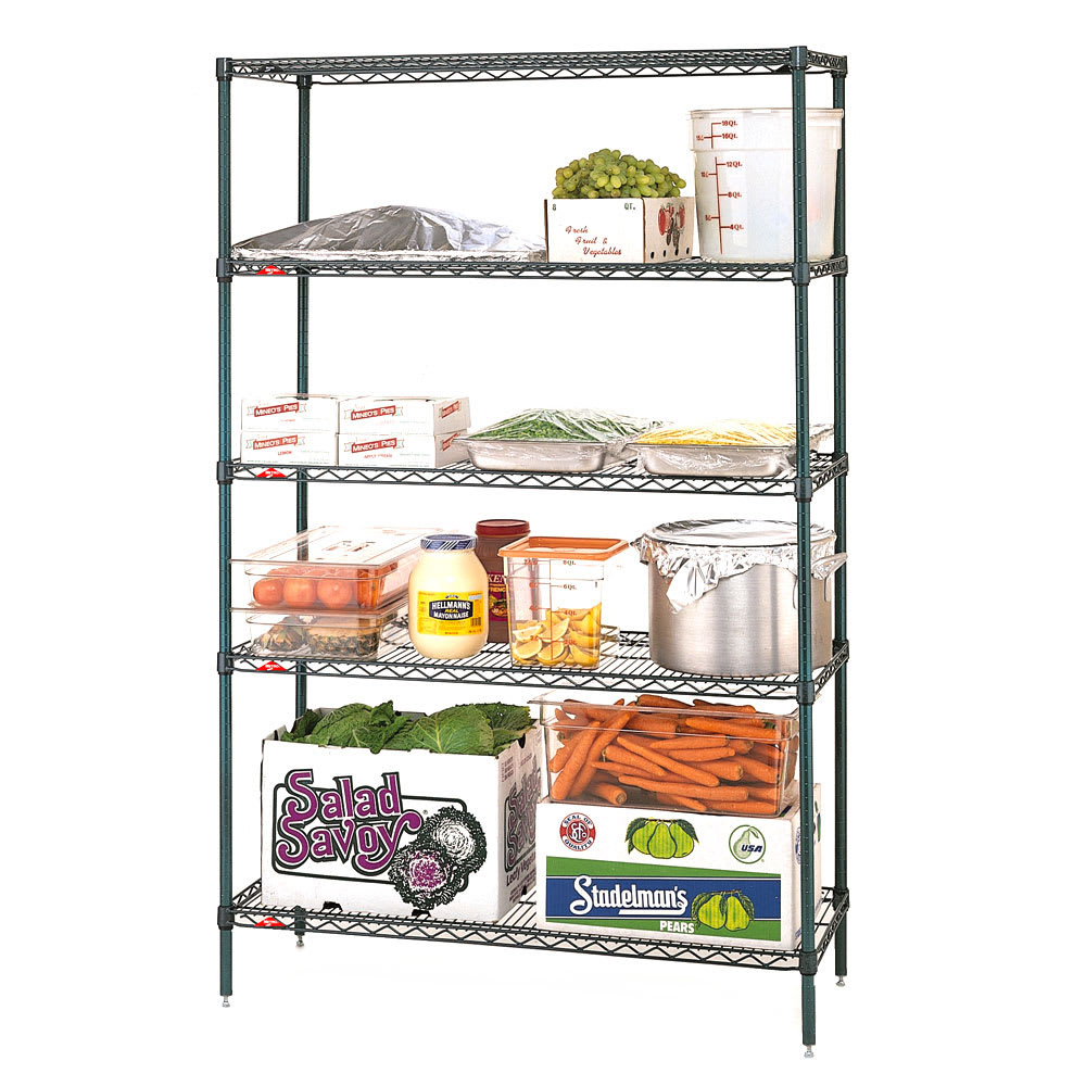 "Metro 5N367K3 Super Erecta® Epoxy Coated Wire Shelf Kit - 60""W x 18""D x 74""H"
