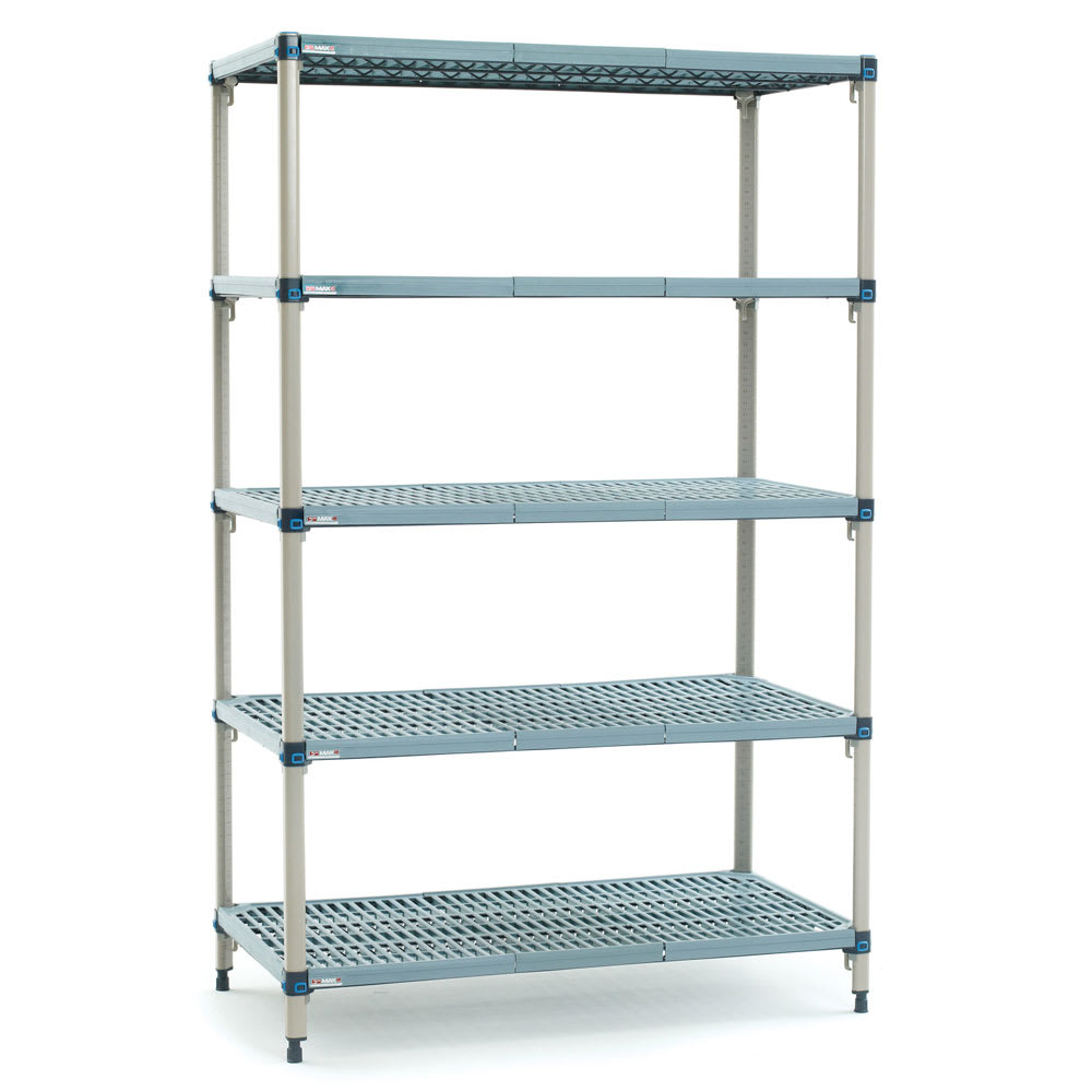 "Metro 5Q537G3 MetroMax Q™ Epoxy Coated Wire Shelving Unit w/ (5) Levels, 36"" x 24"" x 74"""