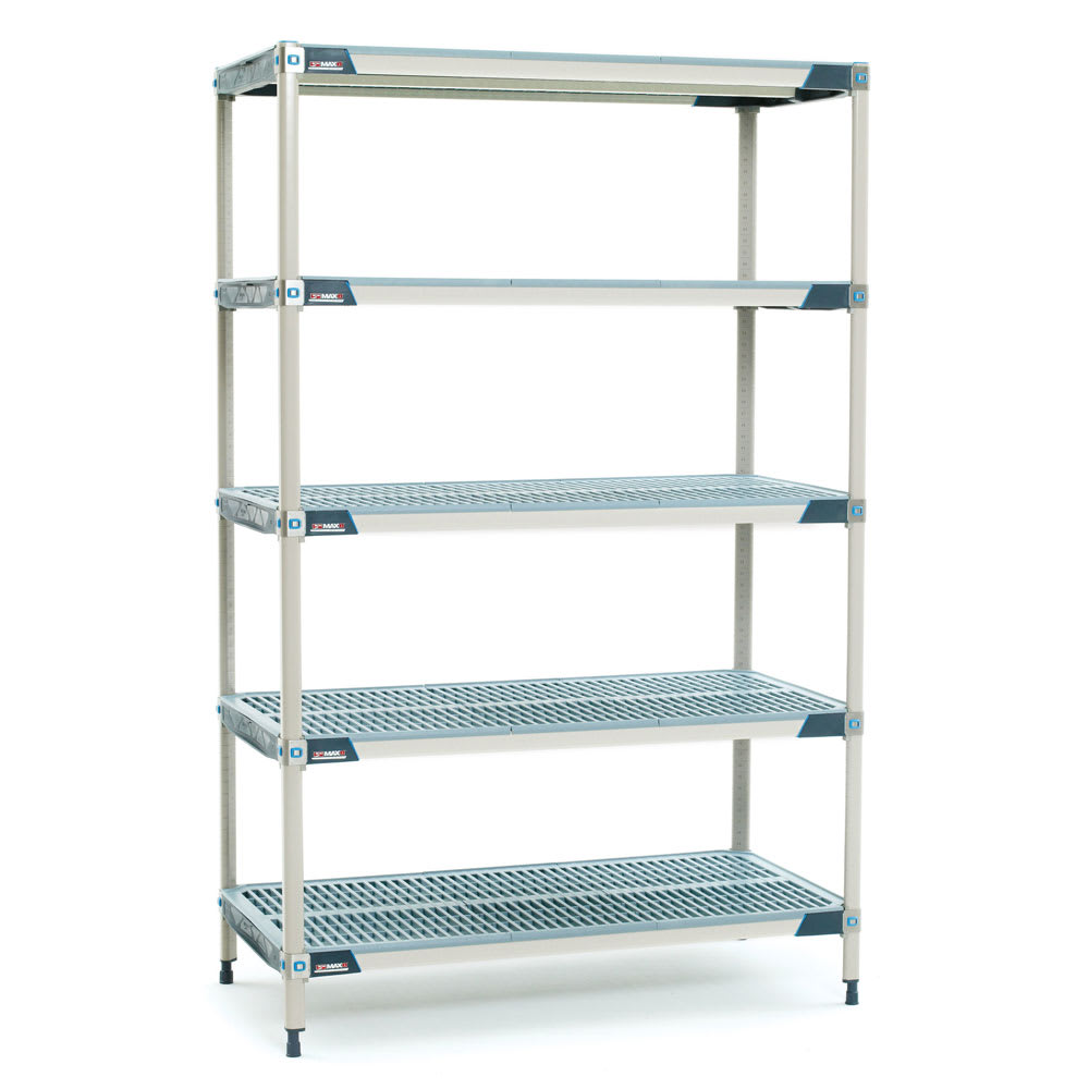 "Metro 5X567GX3 MetroMax i® Polymer Louvered Shelf Kit - 60""W x 24""D x 74""H"