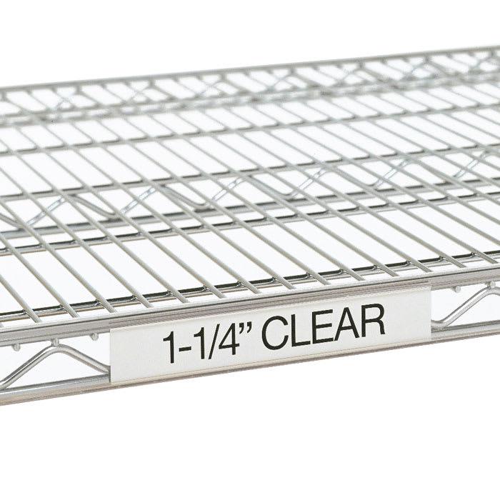 "Metro 9990CL3 Super Erecta® Label Holder - 31"" x 1.25"", Clear"