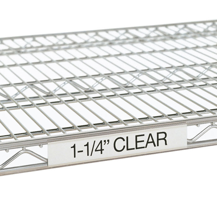 "Metro 9990CL4 Super Erecta® Label Holder - 43"" x 1.25"", Clear"