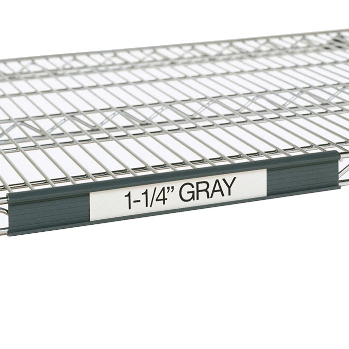 "Metro 9990P4 Super Erecta® Label Holder - 43"" x 1.25"", Snap-On, Gray"