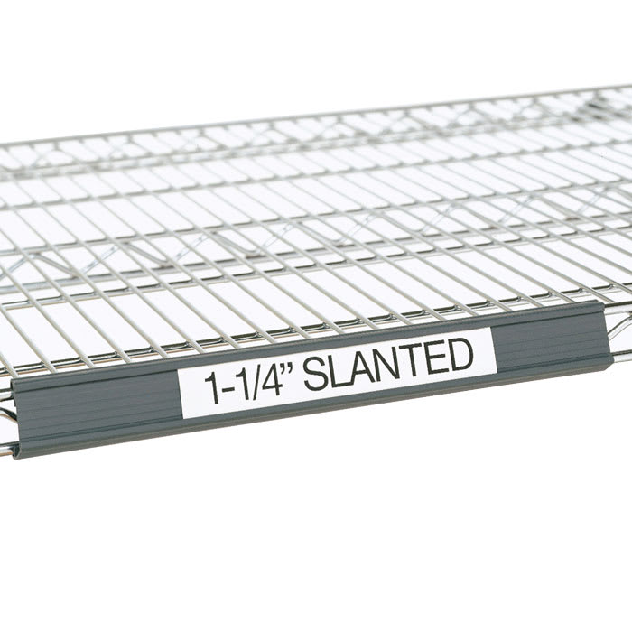 "Metro 9990SL30 Super Erecta® Slanted Label Holder - 25"" x 1.25"", Gray"
