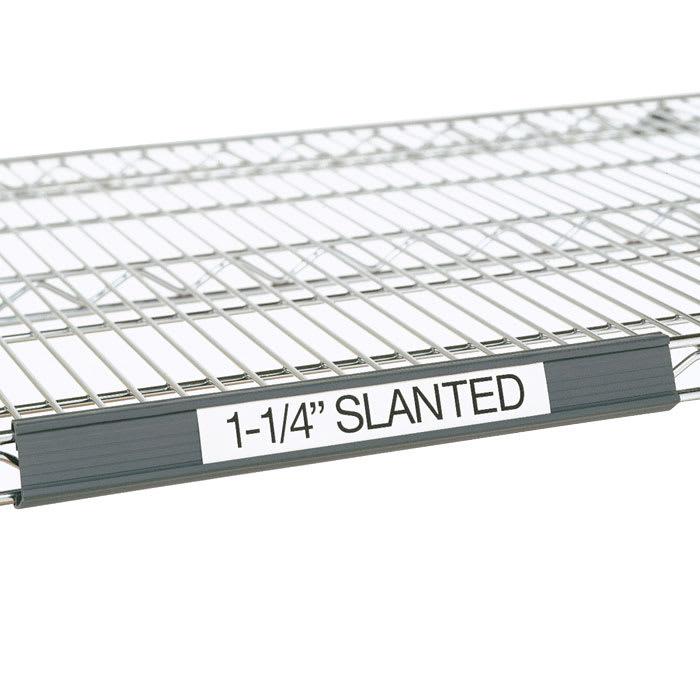 "Metro 9990SL5 Super Erecta® Slanted Label Holder - 55"" x 1.25"", Gray"