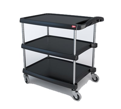 Metro BC203034BL Utility Cart - 3-Shelf, 400-lb Capacity, Blue
