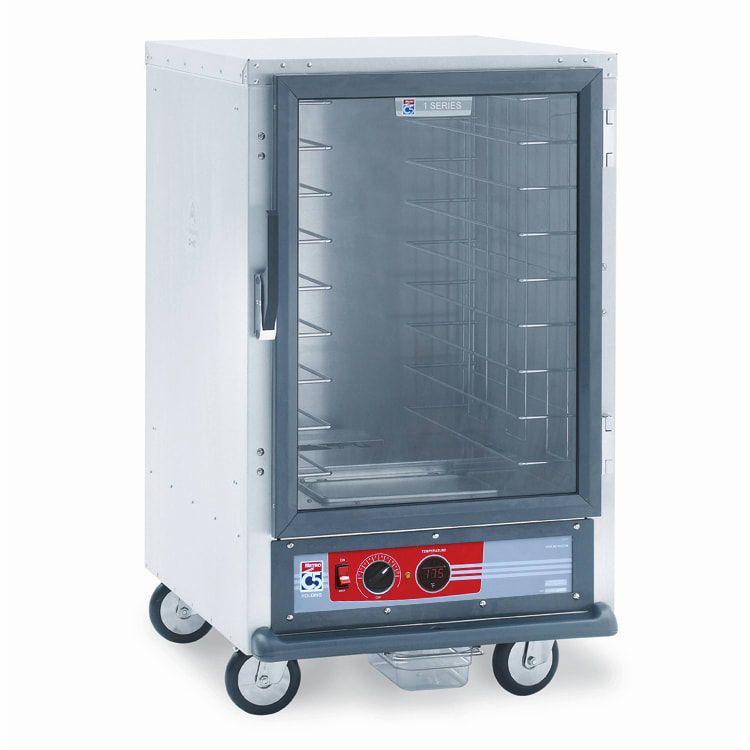 Metro C515-HFC-4 1/2-Height Non-Insulated Mobile Heated Cabinet w/ (8) Pan Capacity, 120v