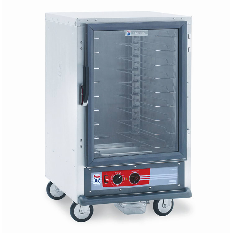 Metro C515-HFC-U 1/2 Height Non-Insulated Mobile Heated Cabinet w/ (8) Pan Capacity, 120v
