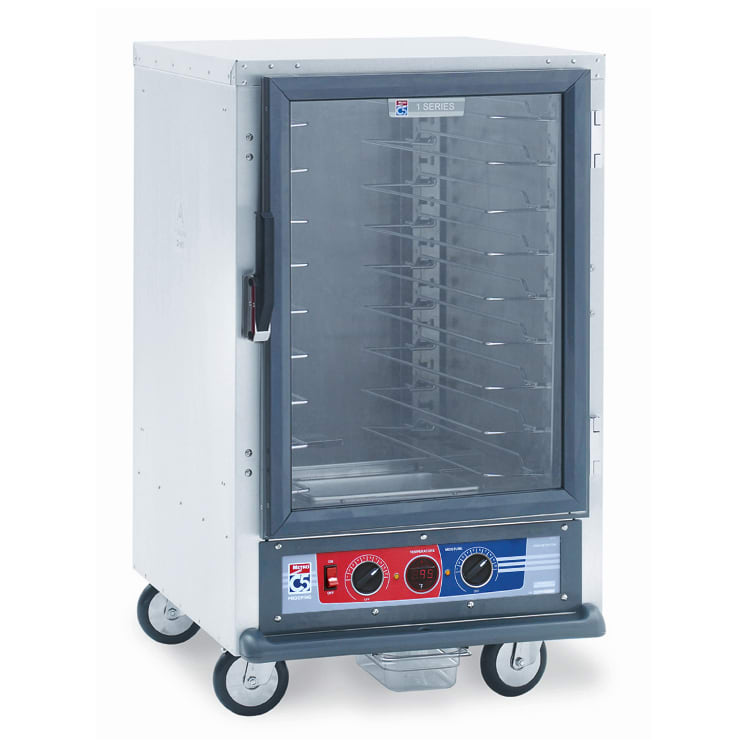 Metro C515-PFC-U 1/2-Height Non-Insulated Mobile Heated Cabinet w/ (8) Pan Capacity, 120v