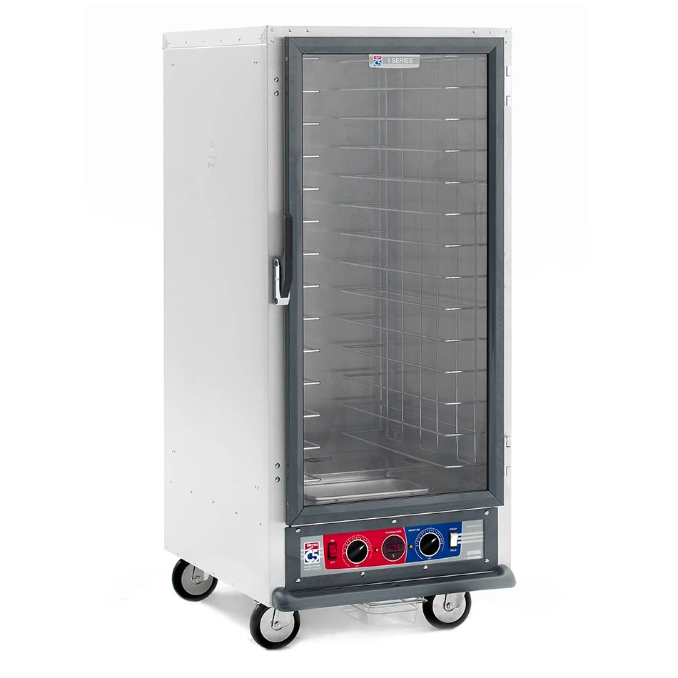 Metro C517-CFC-L 3/4 Height Non-Insulated Mobile Heated Cabinet w/ (27) Pan Capacity, 120v