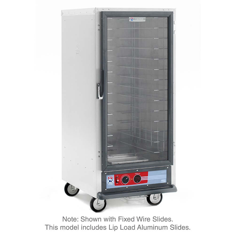 Metro C517-HFC-L 3/4 Height Non-Insulated Mobile Heated Cabinet w/ (27) Pan Capacity, 120v