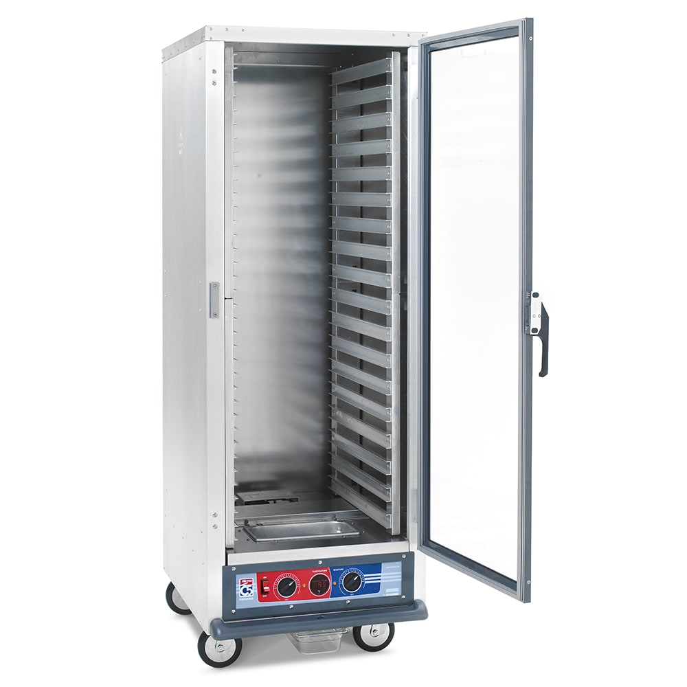 Metro C519-PFC-L Full Height Non-Insulated Mobile Heated Cabinet w/ (35) Pan Capacity, 120v