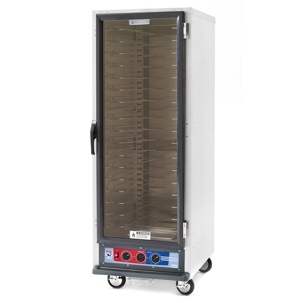 Metro C519-PFC-U Full Height Non-Insulated Mobile Heated Cabinet w/ (18) Pan Capacity, 120v