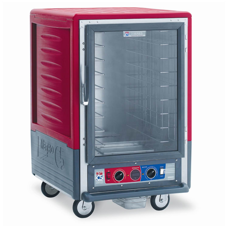 Metro C535-CFC-4 1/2 Height Insulated Mobile Heated Cabinet w/ (8) Pan Capacity, 120v