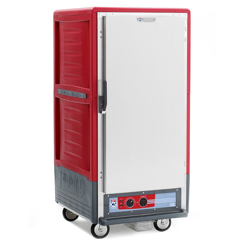 Metro C537-HFS-L 3/4-Height Mobile Heated Cabinet w/ (27) Pan Capacity, 120v