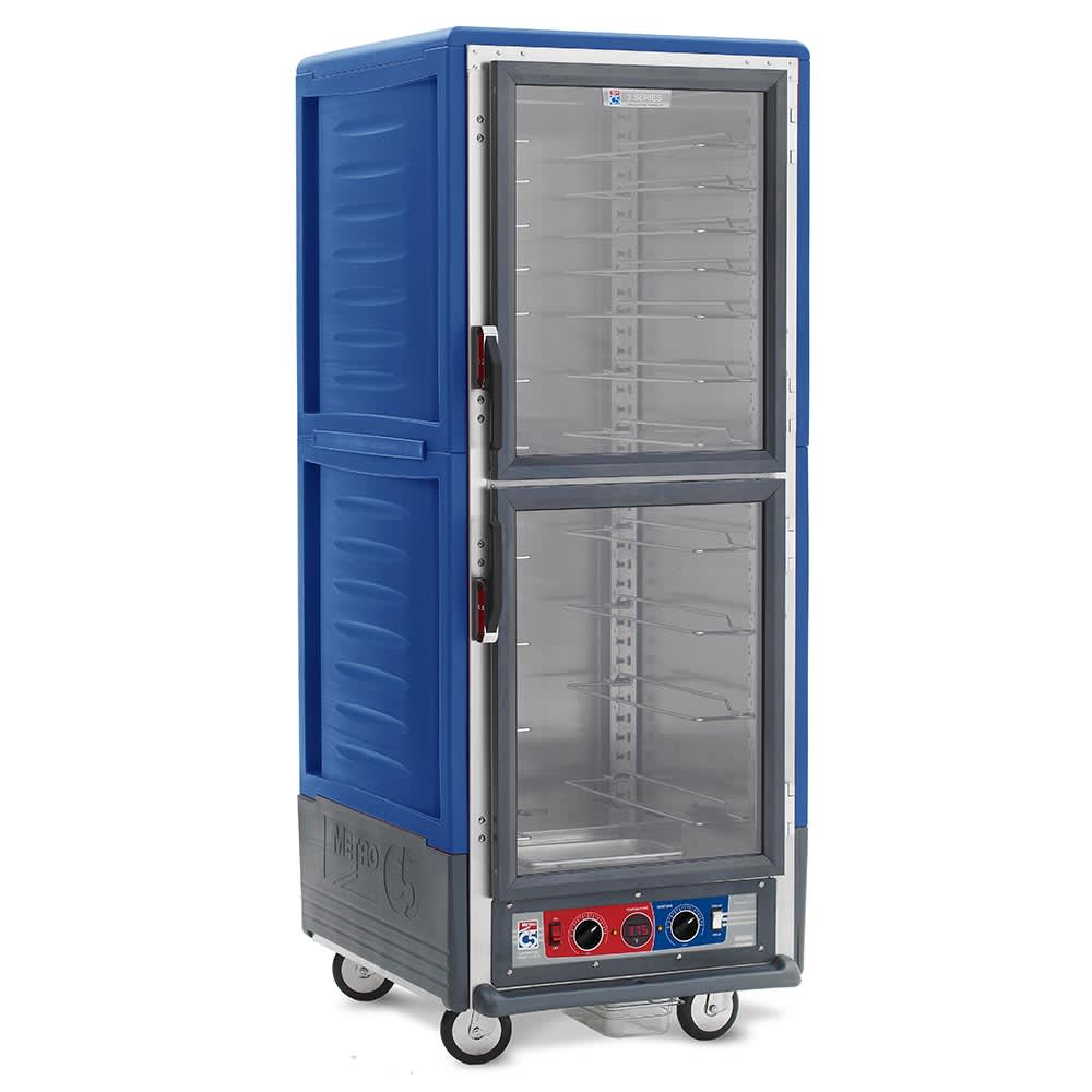 Metro C539-CDC-U-BU Full Height Insulated Mobile Heated Cabinet w/ (18) Pan Capacity, 120v