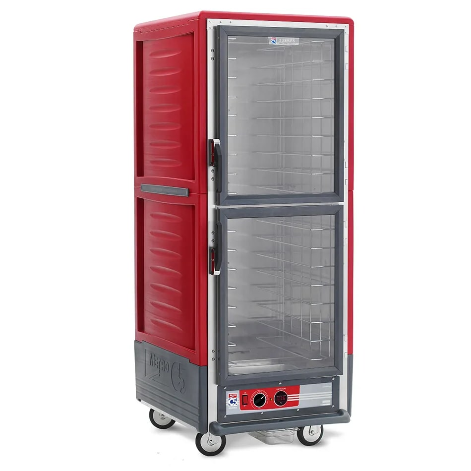 Metro C539-HDC-L Full Height Insulated Mobile Heated Cabinet w/ (34) Pan Capacity, 120v