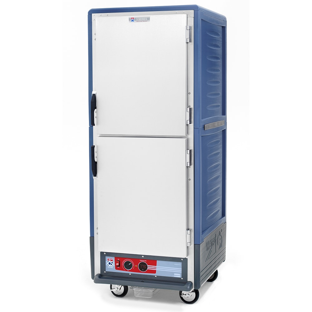 Metro C539-HDS-U-BU Full Height Mobile Heated Cabinet w/ (18) Pan Capacity, 120v