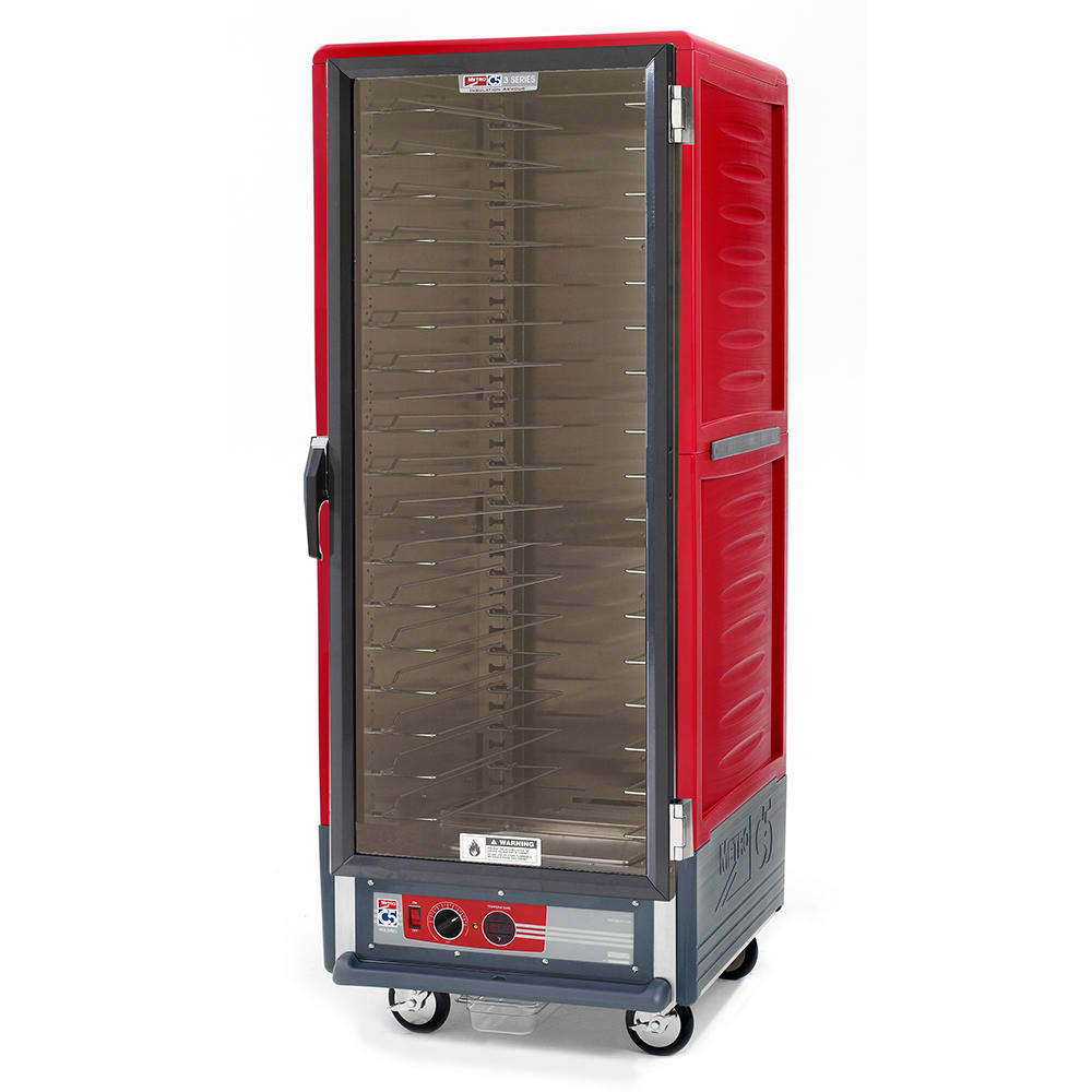 Metro C539-HFC-U Full Height Insulated Mobile Heated Cabinet w/ (18) Pan Capacity, 120v