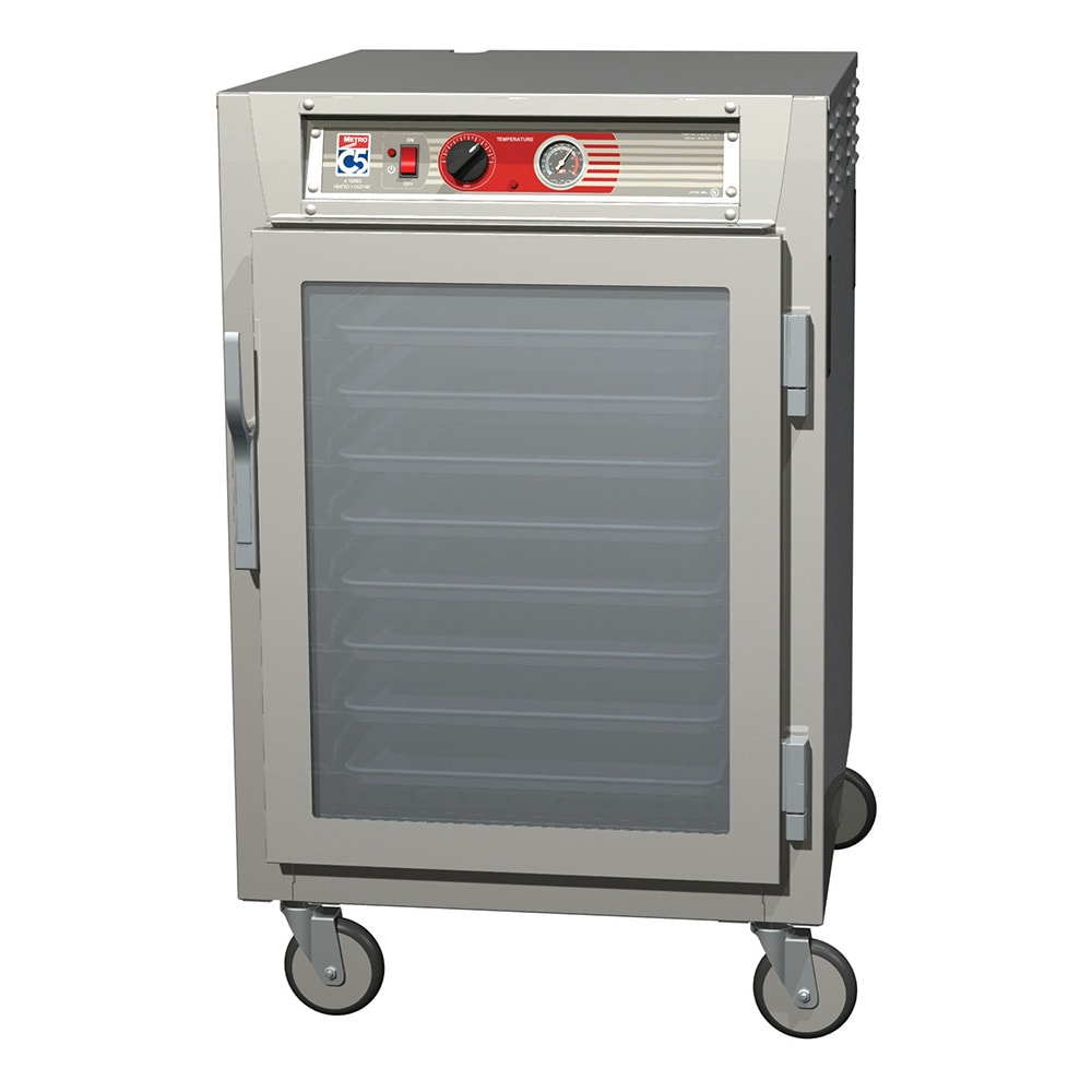 Metro C565-NFC-UPFC 1/2-Height Mobile Heated Cabinet w/ (8) Pan Capacity, 120v