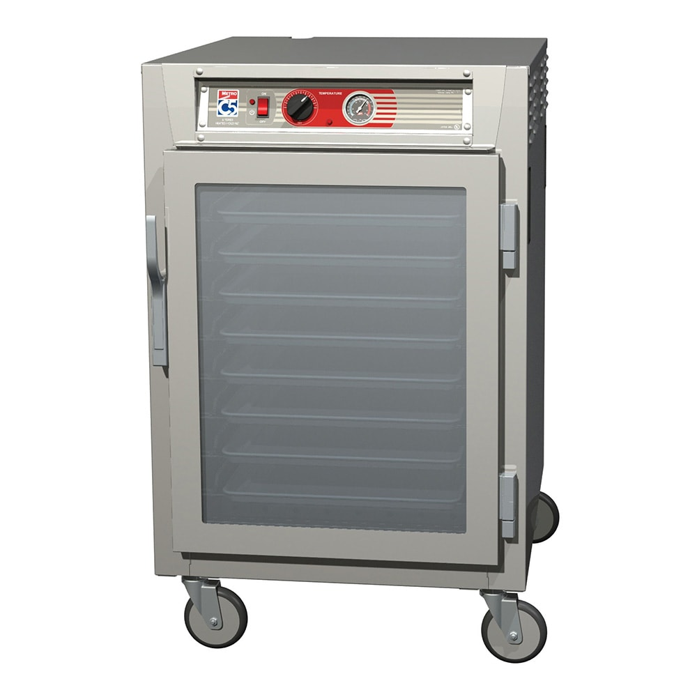 Metro C565-NFC-UPFS 1/2 Height Insulated Mobile Heated Cabinet w/ (8) Pan Capacity, 120v