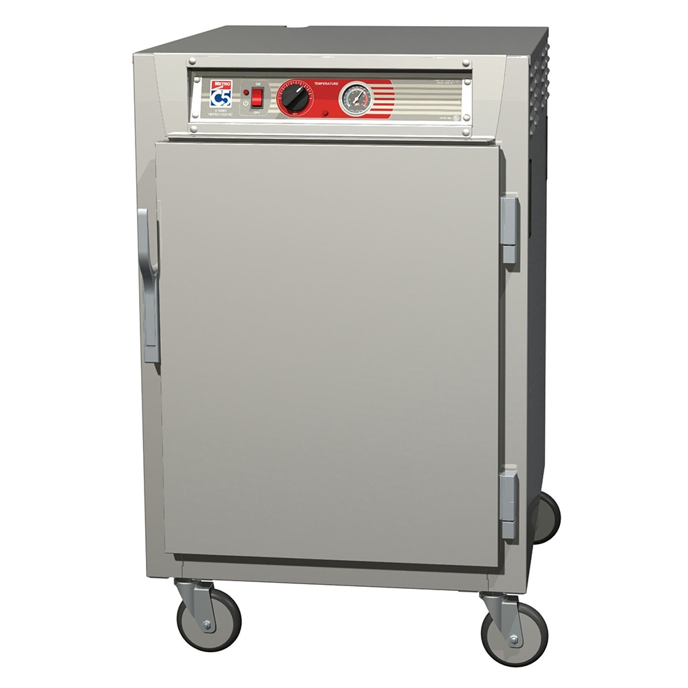 Metro C565-NFS-LPFC 1/2 Height Insulated Mobile Heated Cabinet w/ (17) Pan Capacity, 120v