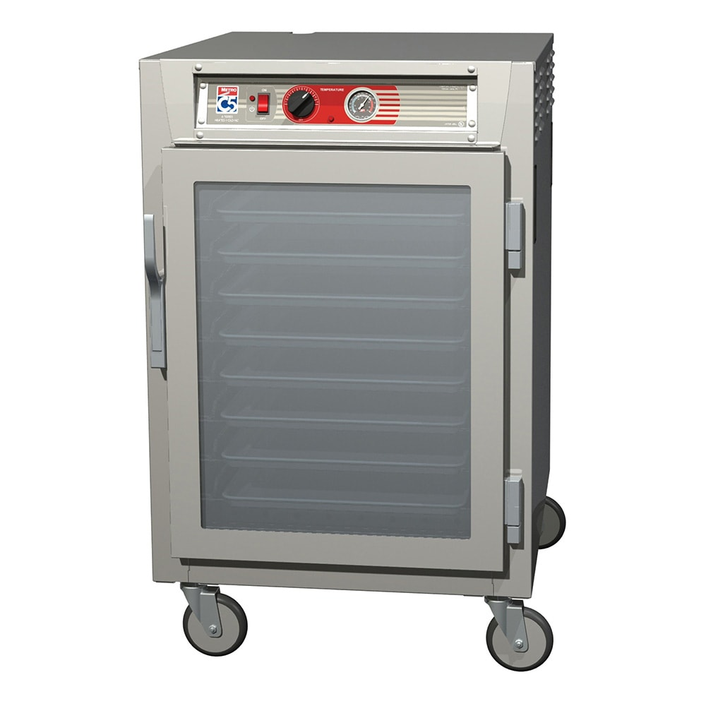 Metro C565-SFC-L 1/2-Height Mobile Heated Cabinet w/ (17) Pan Capacity, 120v