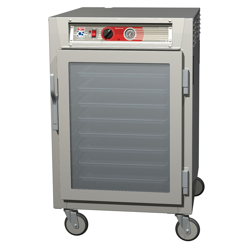 Metro C565-SFC-LPFC 1/2 Height Insulated Mobile Heated Cabinet w/ (17) Pan Capacity, 120v