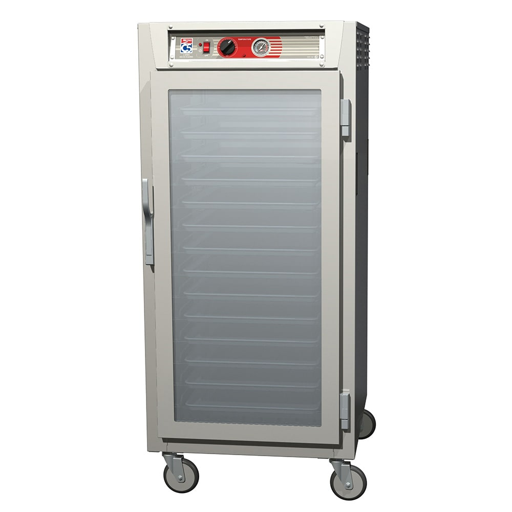 Metro C567-SFC-L 3/4 Height Insulated Mobile Heated Cabinet w/ (27) Pan Capacity, 120v