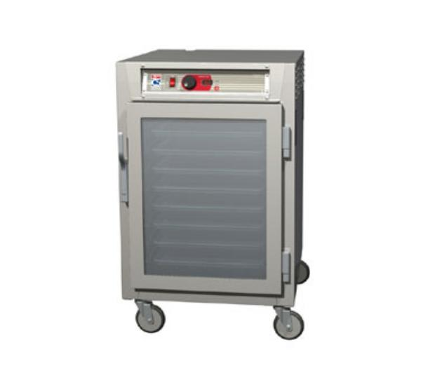 Metro C585-SFC-LPFC 1/2-Height Mobile Heated Cabinet w/ (17) Pan Capacity, 120v