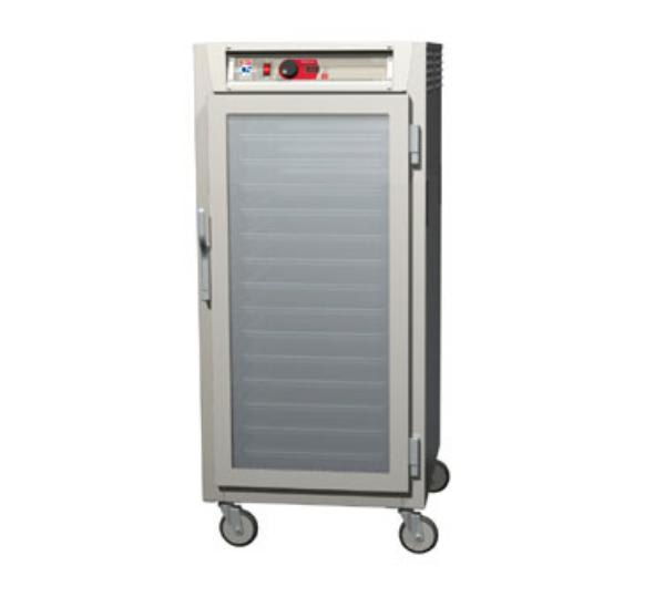 Metro C587-SFC-L 3/4 Height Insulated Mobile Heated Cabinet w/ (27) Pan Capacity, 120v