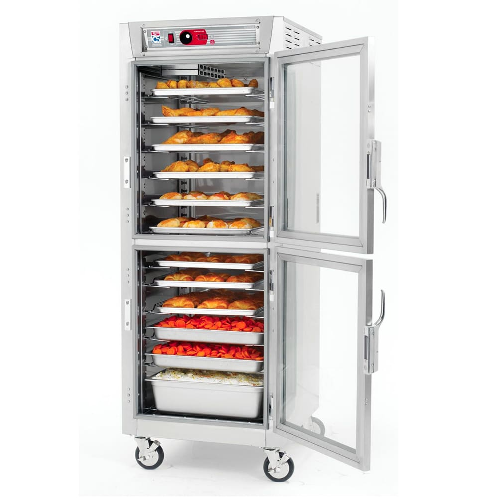 Metro C589-SDC-LPDS Full Height Insulated Mobile Heated Cabinet w/ (34) Pan Capacity, 120v