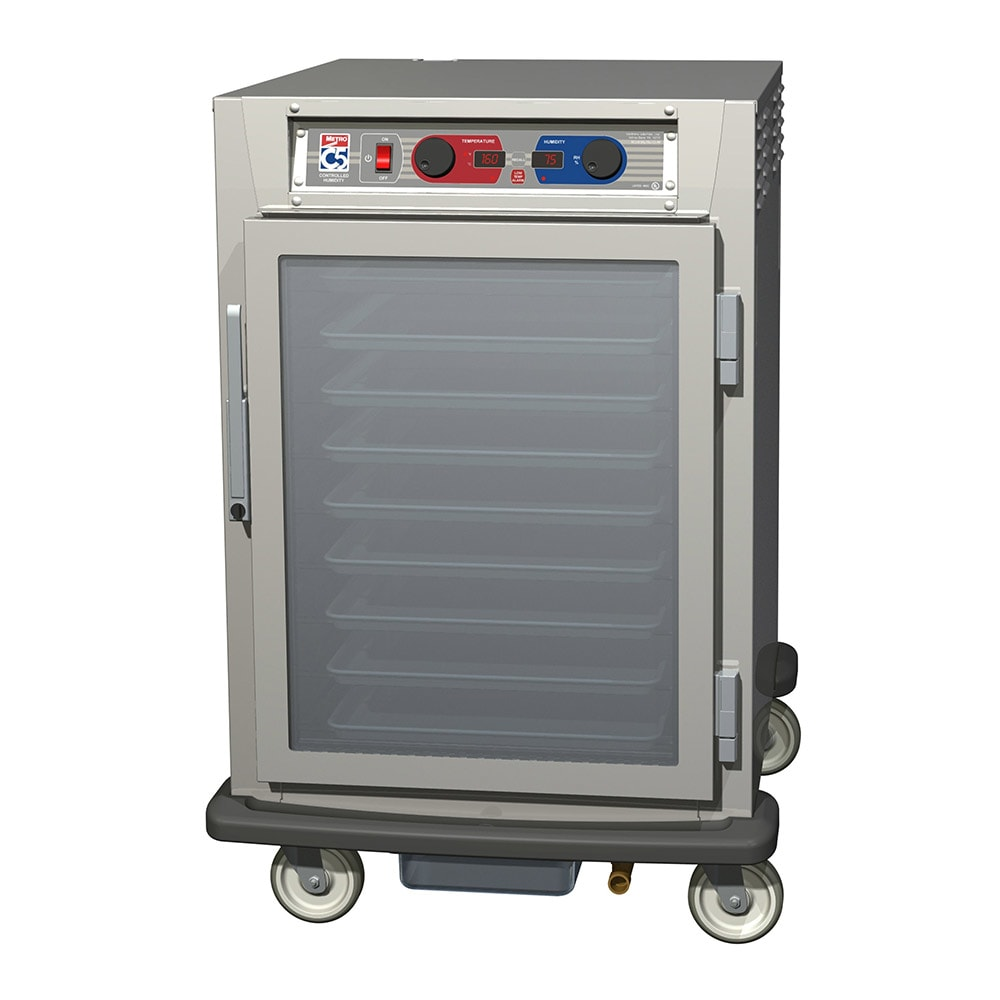 Metro C595-NFC-L 1/2-Height Mobile Heated Cabinet w/ (17) Pan Capacity, 120v