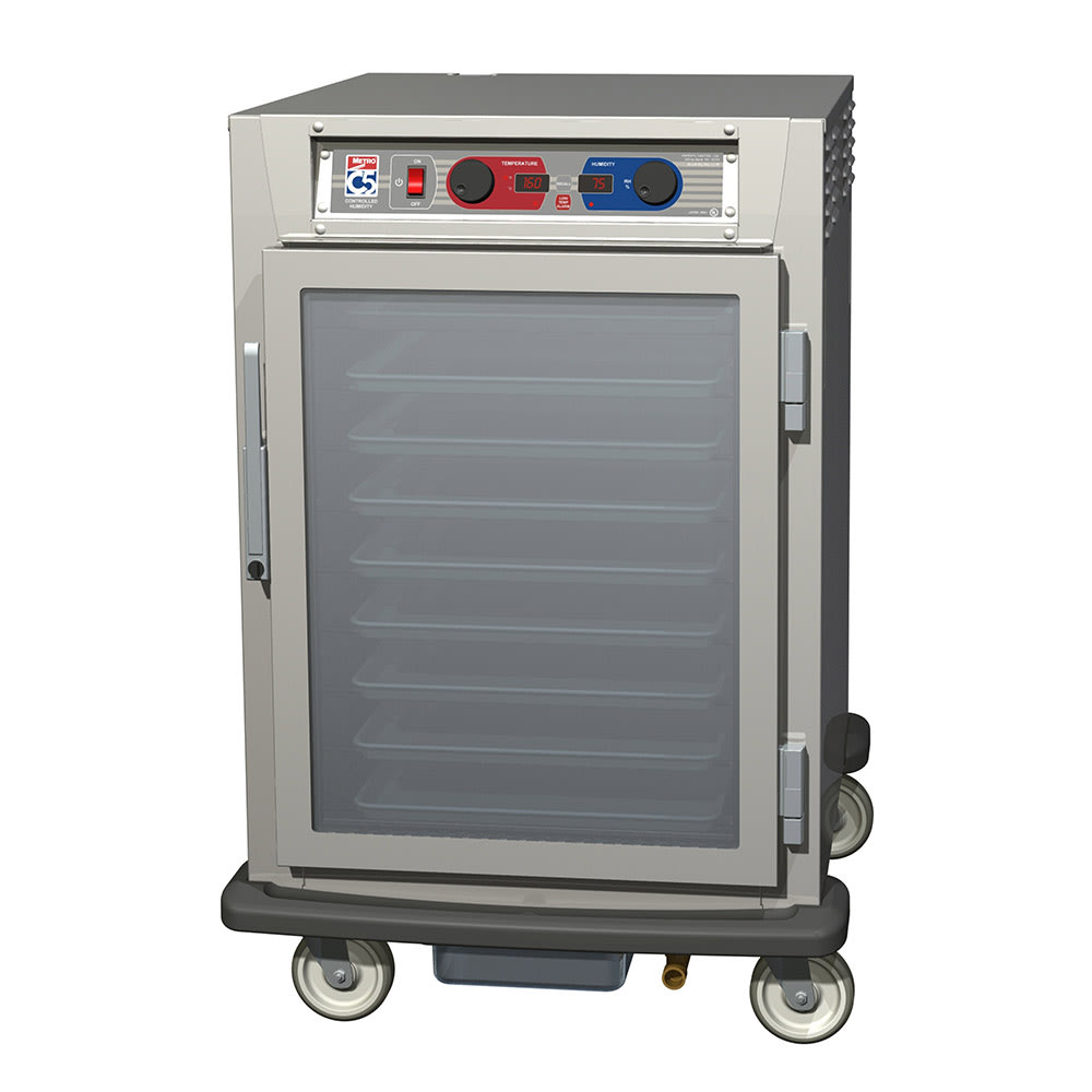 Metro C595-NFC-LPFC 1/2 Height Insulated Mobile Heated Cabinet w/ (17) Pan Capacity, 120v