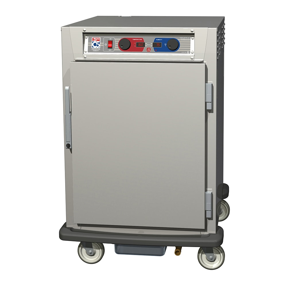 Metro C595-NFS-L 1/2 Height Insulated Mobile Heated Cabinet w/ (17) Pan Capacity, 120v