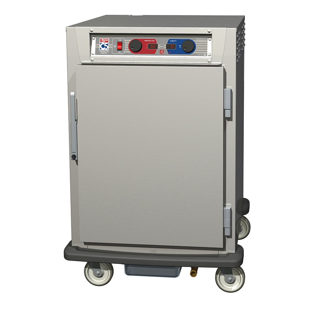 Metro C595-NFS-LPFS 1/2-Height Insulated Mobile Heated Cabinet w/ (8) Pan Capacity, 120v