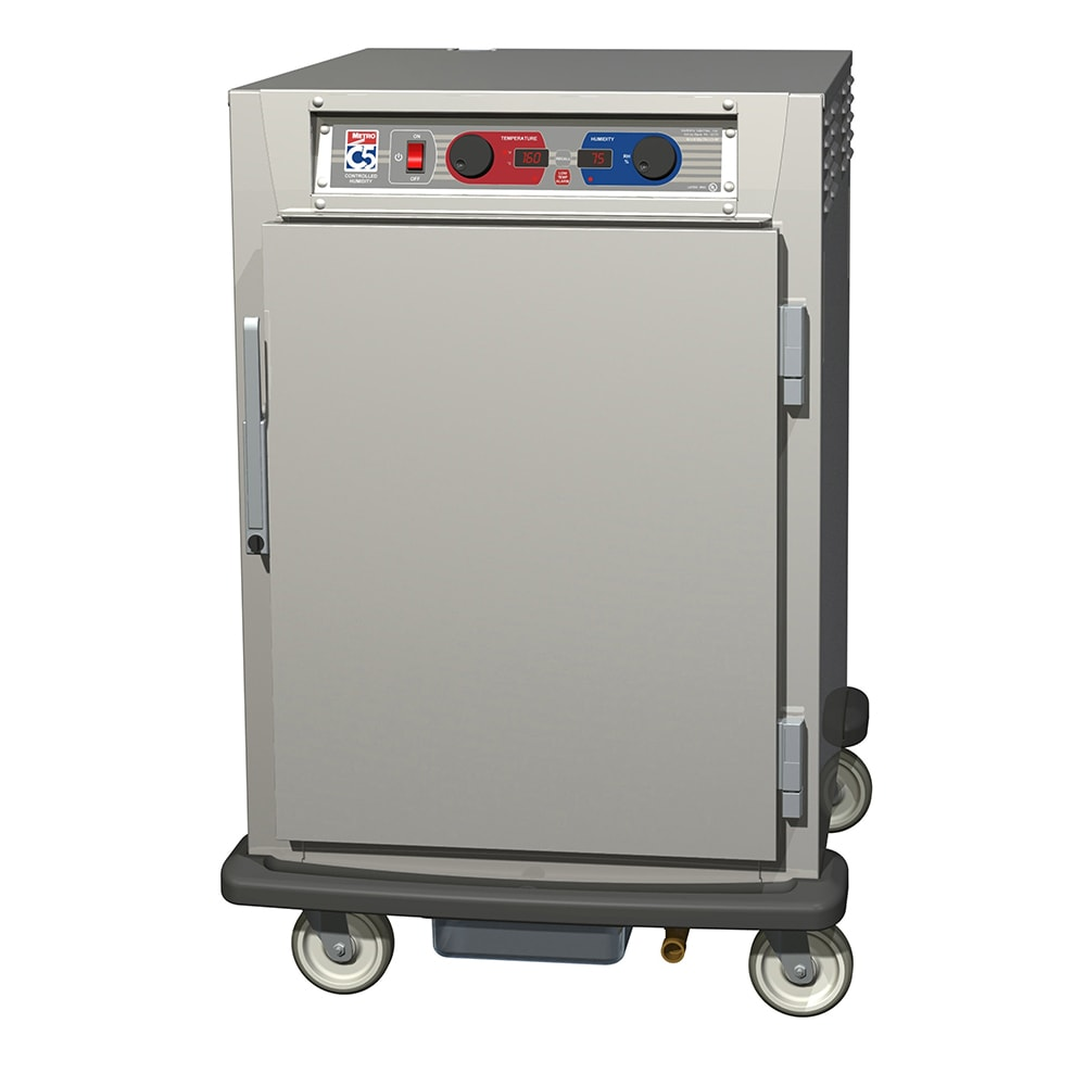 Metro C595-NFS-U 1/2 Height Insulated Mobile Heated Cabinet w/ (8) Pan Capacity, 120v