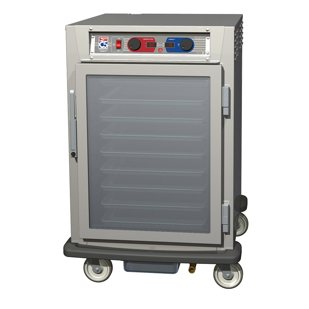 Metro C595-SFC-L 1/2-Height Mobile Heated Cabinet w/ (17) Pan Capacity, 120v