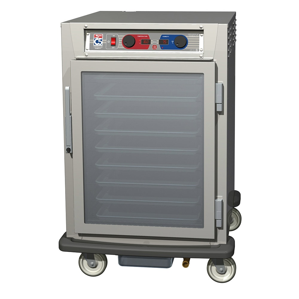 Metro C595-SFC-LPFC 1/2-Height Mobile Heated Cabinet w/ (8) Pan Capacity, 120v