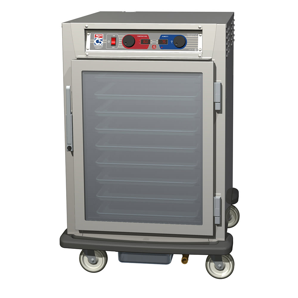 Metro C595-SFC-LPFS 1/2-Height Mobile Heated Cabinet w/ (8) Pan Capacity, 120v