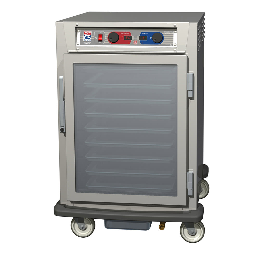 Metro C595-SFC-U 1/2 Height Insulated Mobile Heated Cabinet w/ (8) Pan Capacity, 120v