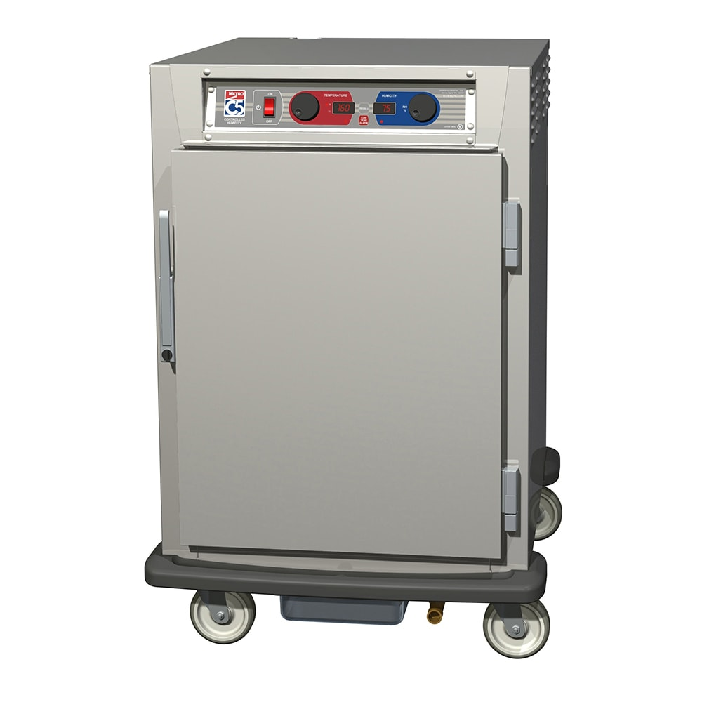 Metro C595-SFS-LPFC 1/2-Height Mobile Heated Cabinet w/ (8) Pan Capacity, 120v