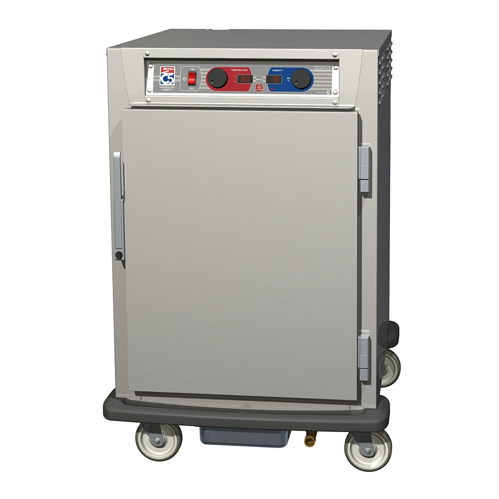Metro C595-SFS-LPFS 1/2-Height Mobile Heated Cabinet w/ (8) Pan Capacity, 120v