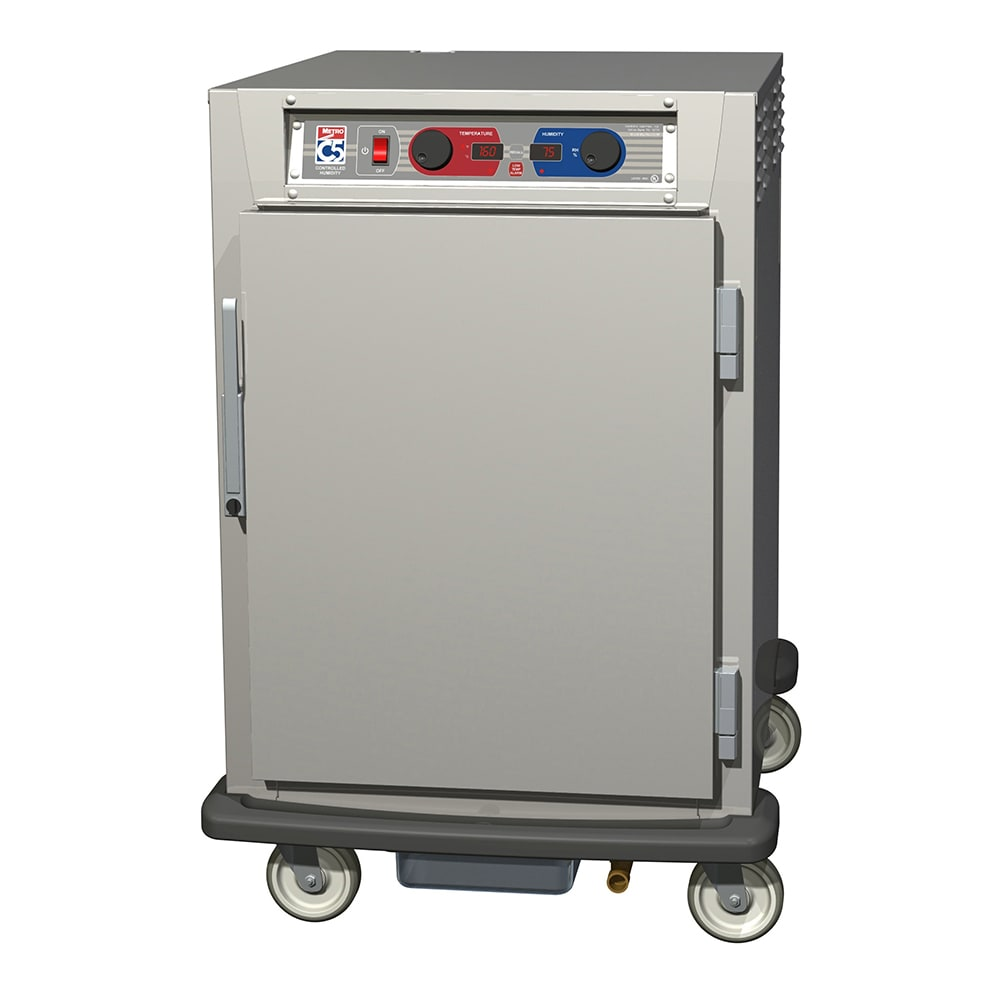 Metro C595-SFS-U 1/2 Height Insulated Mobile Heated Cabinet w/ (8) Pan Capacity, 120v