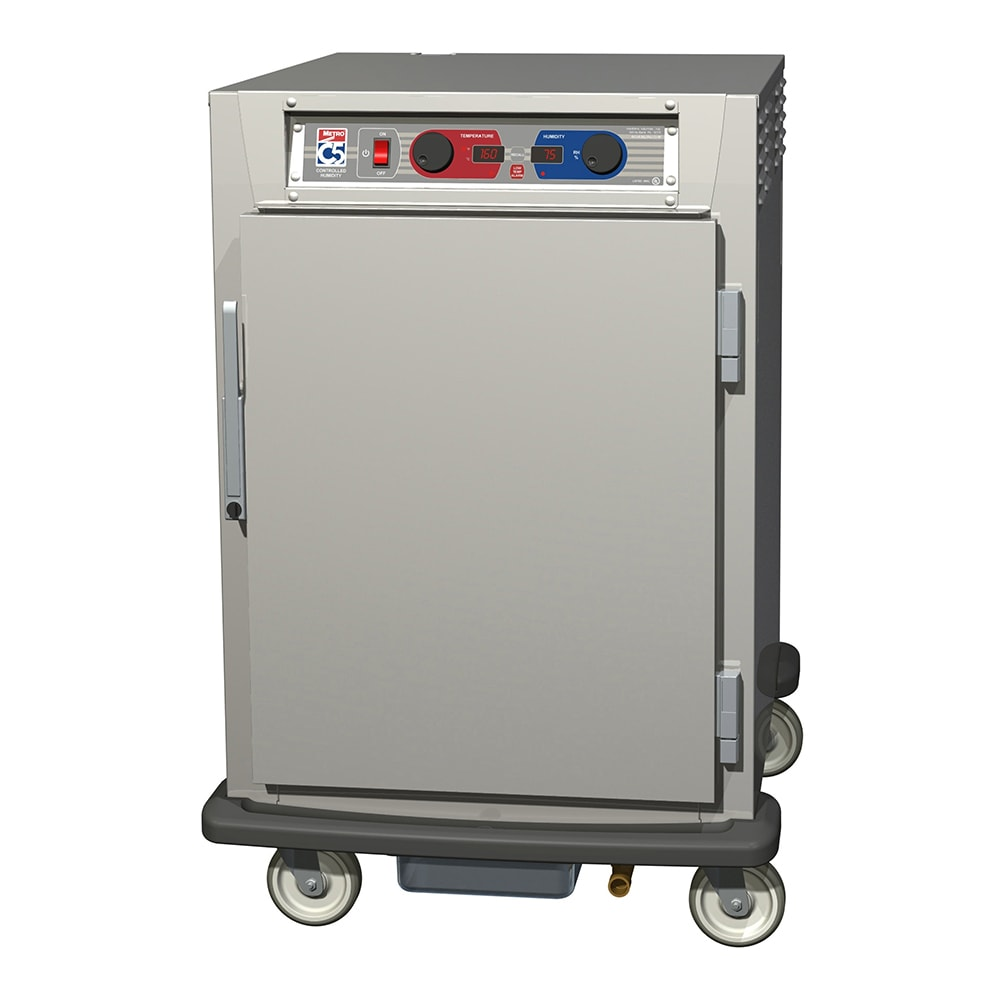 Metro C595-SFS-UPFS 1/2 Height Insulated Mobile Heated Cabinet w/ (8) Pan Capacity, 120v