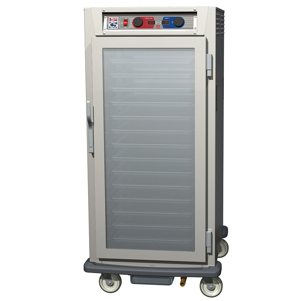 Metro C597-SFC-L 3/4-Height Insulated Mobile Heated Cabinet w/ (27) Pan Capacity, 120v