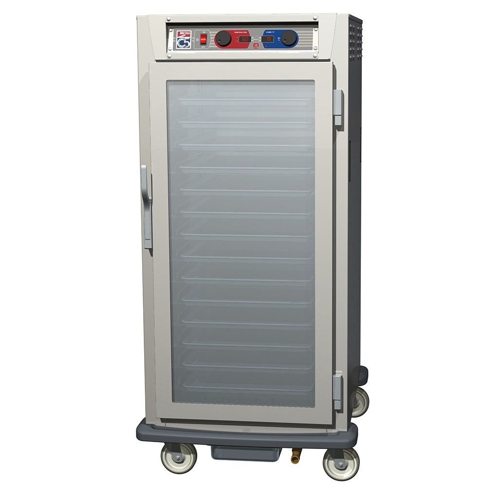 Metro C597-SFC-U 3/4-Height Insulated Mobile Heated Cabinet w/ (13) Pan Capacity, 120v