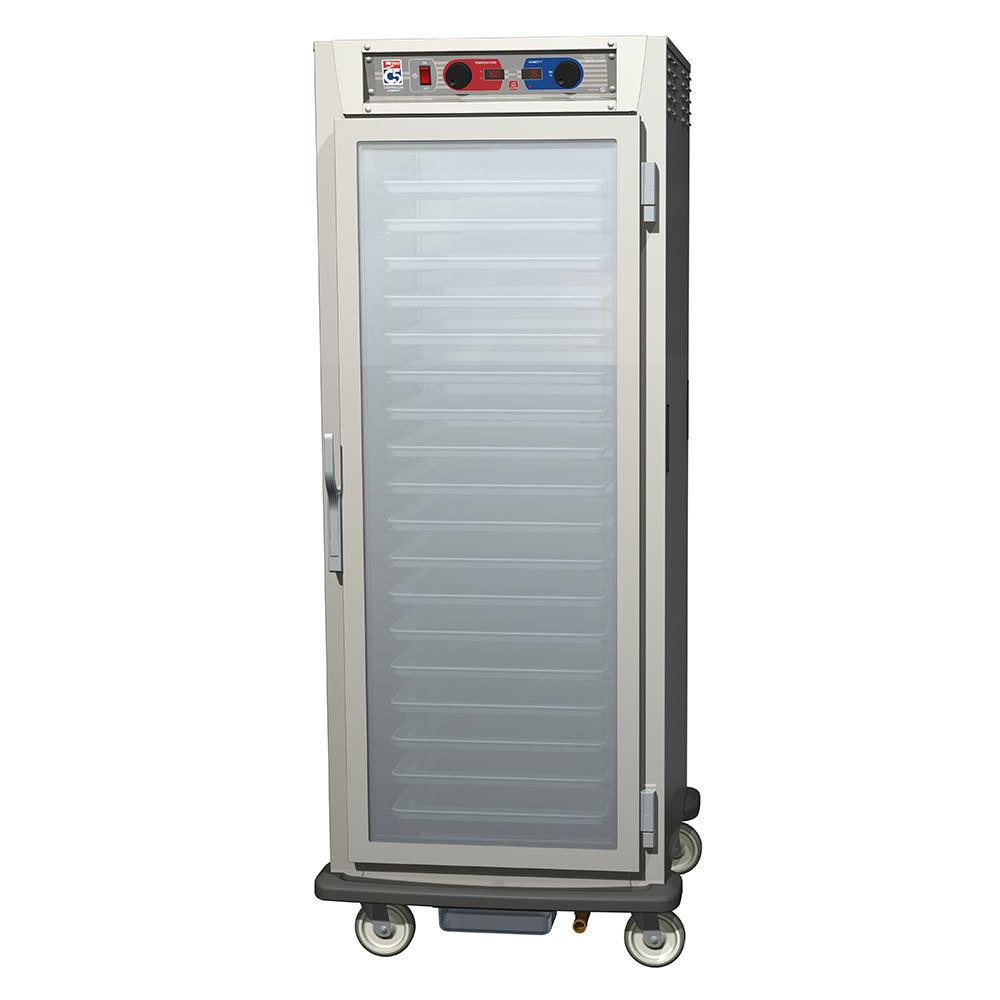 Metro C599-NFC-UPFS Full Height Insulated Mobile Heated Cabinet w/ (18) Pan Capacity, 120v