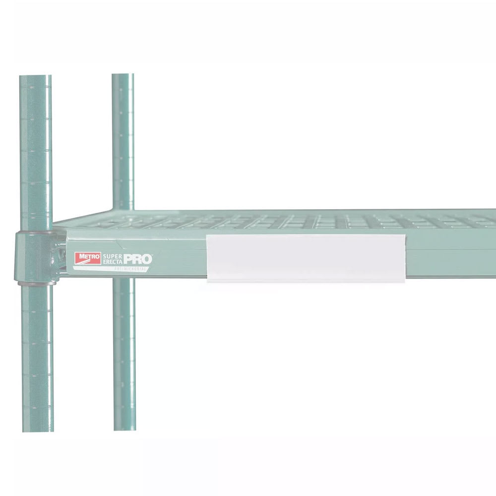 "Metro CSM6-WQ MetroMax Q™ Shelf Marker - 6"" x 1.5"", White"