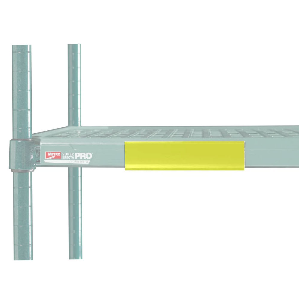 "Metro CSM6-YQ MetroMax Q™ Shelf Marker - 6"" x 1.5"", Yellow"